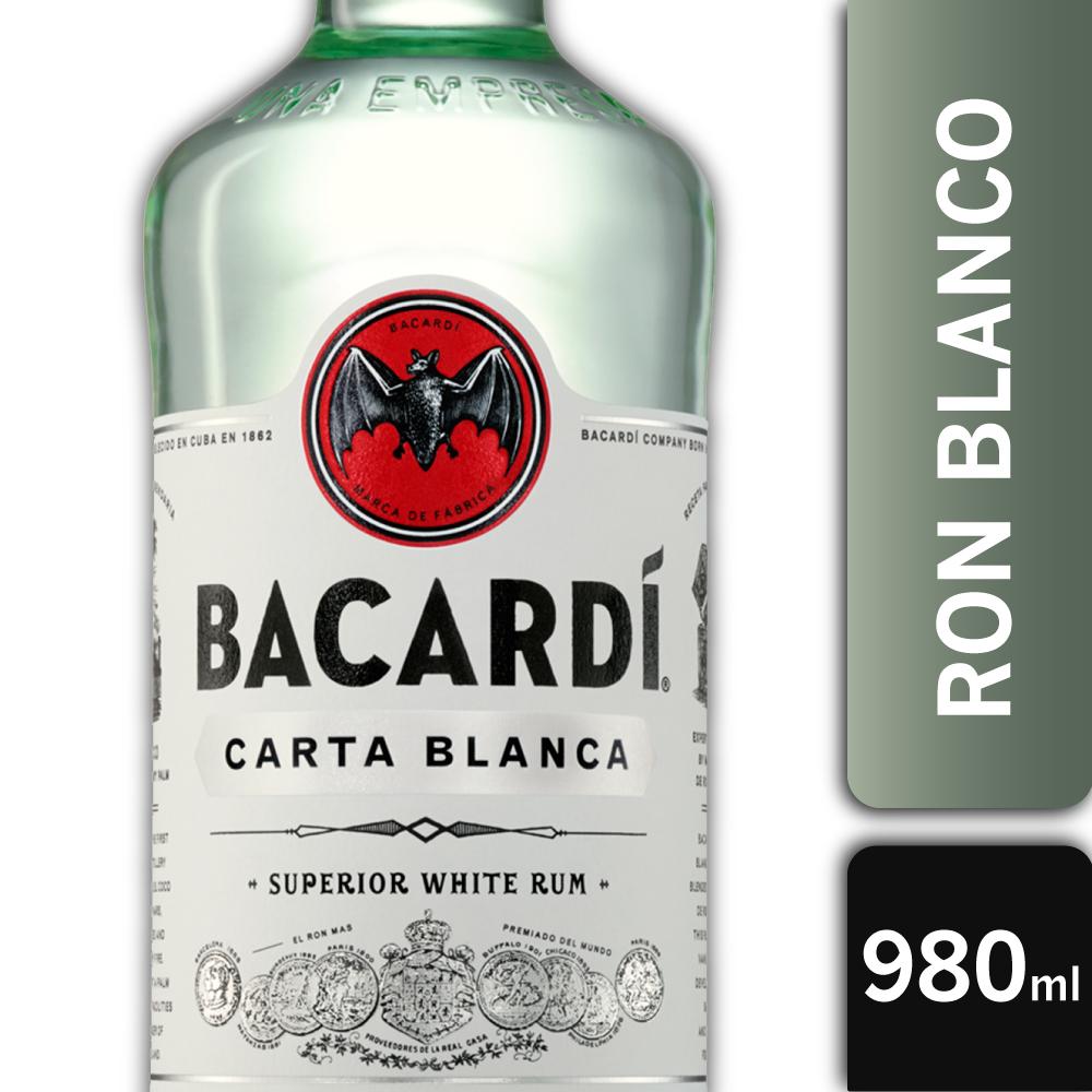 BACARDI CARTA BLANCA PT 40° 980mls