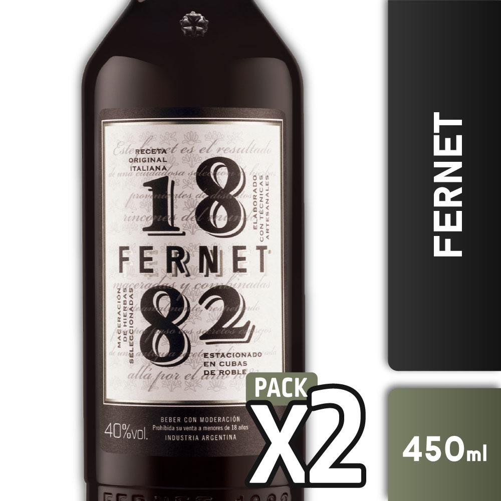 FERNET 1882 40º 450ml PACK x2