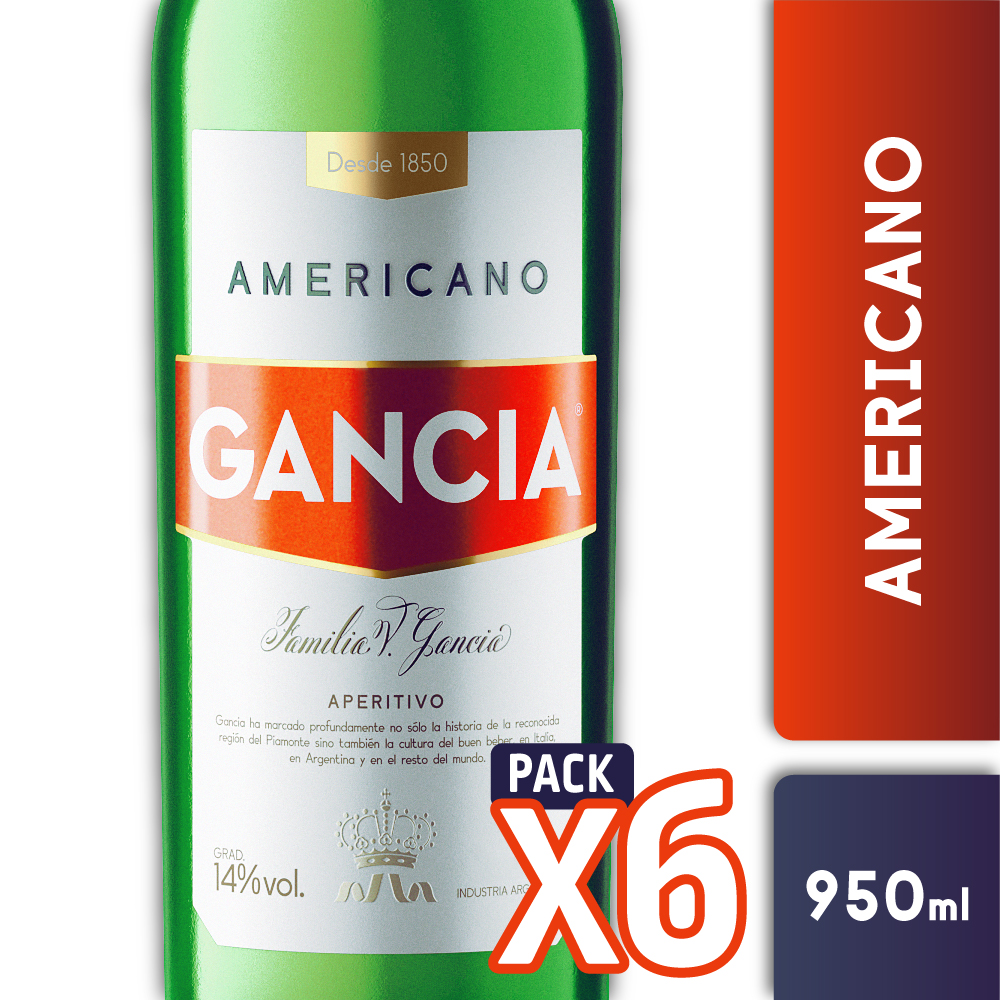 AMERICANO GANCIA 950ml PACK x6
