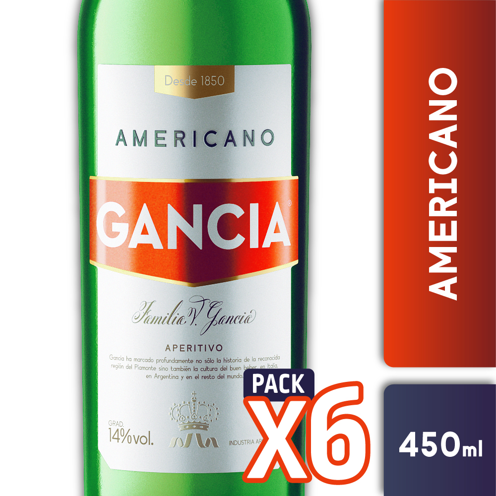 AMERICANO GANCIA 450ml PACK x6