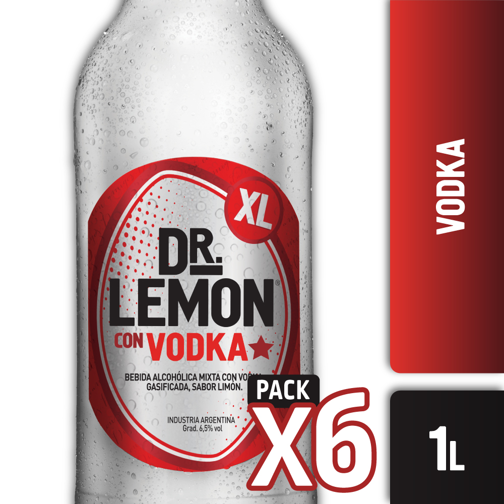 DR. LEMON VODKA ORIGINAL XL 1L PACK x6s