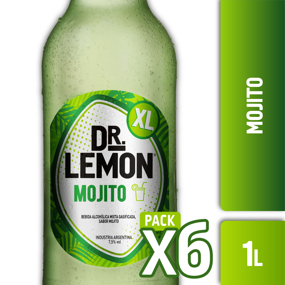 DR. LEMON MOJITO XL 1L PACK x6