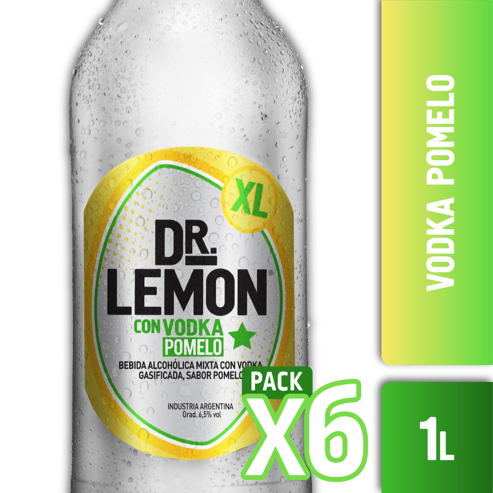DR. LEMON CON VODKA CON POMELO XL 1L PACK x6