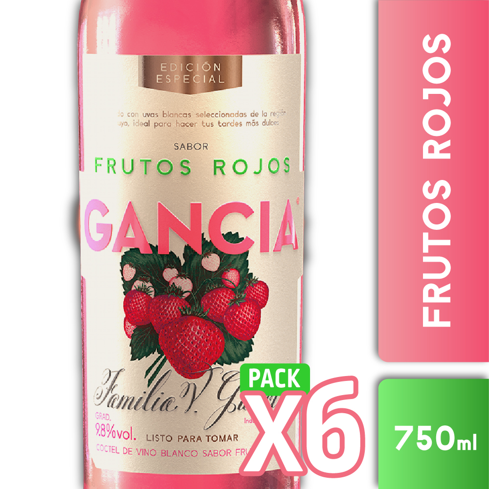 GANCIA FRUTOS ROJOS 750ml PACK x6