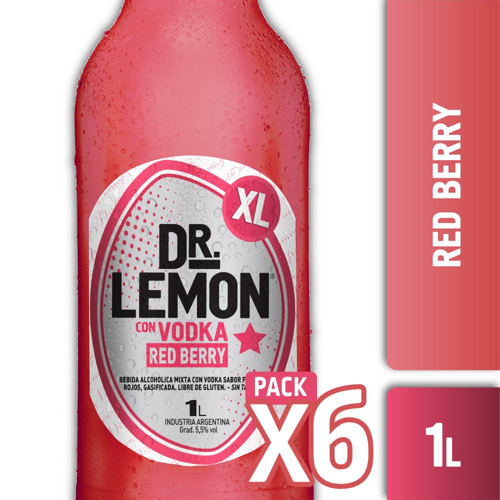 DR. LEMON RED BERRY XL 1L PACK x6