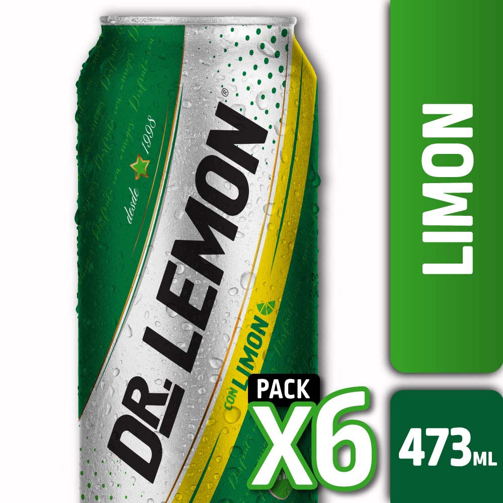 DR. LEMON CON LIMÓN LATA 473ml PACK x6s