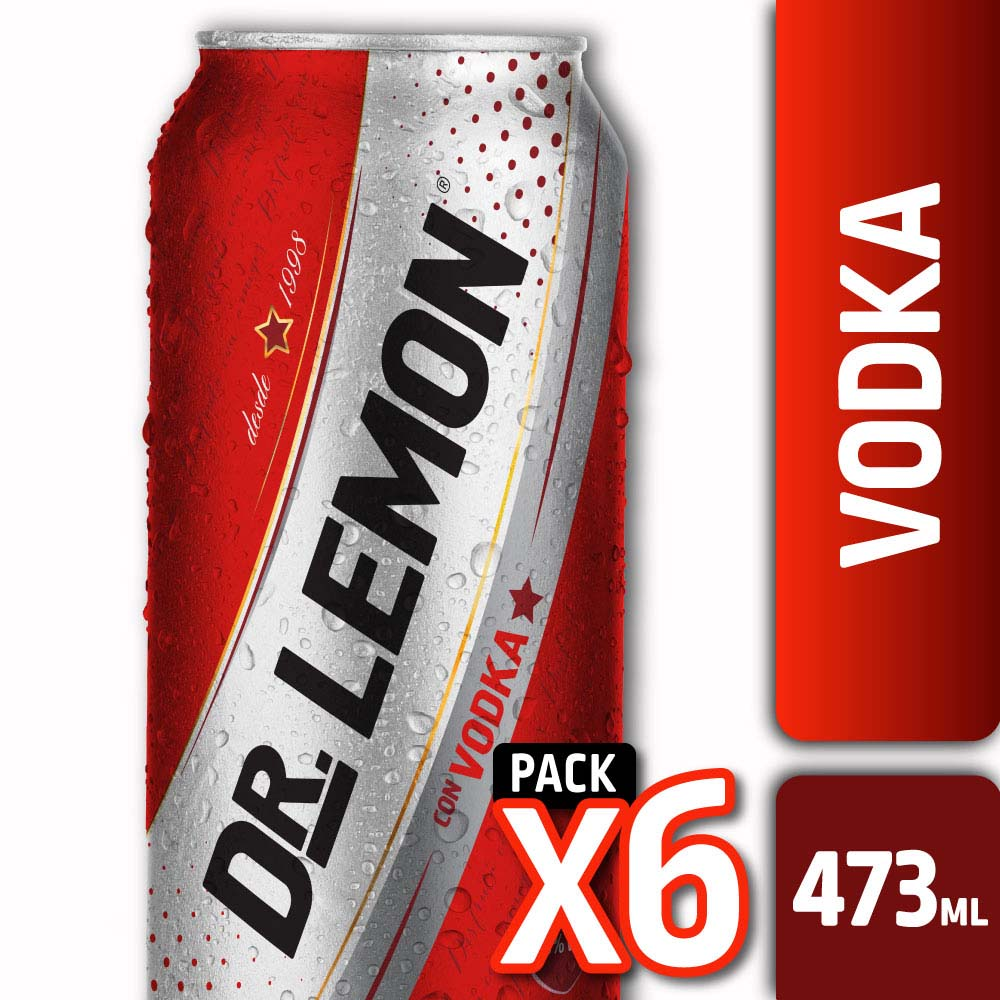 DR. LEMON CON VODKA LATA 473ml PACK x6