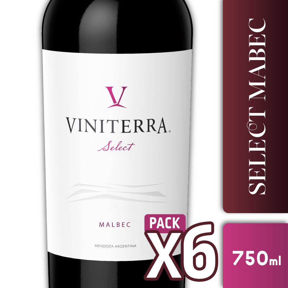 SELECT VINITERRA MALBEC 750cc PACK x6