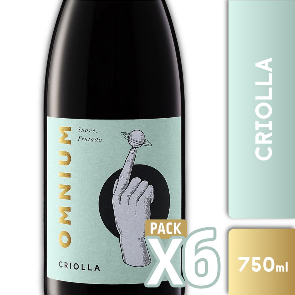 OMNIUM CRIOLLA 750ml PACK x6
