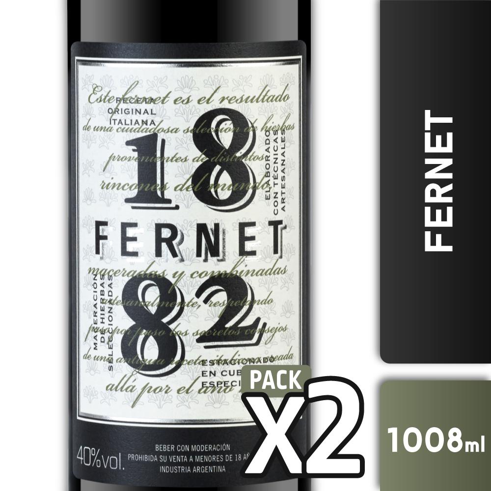 FERNET 1882 40° 1008L PACK x2