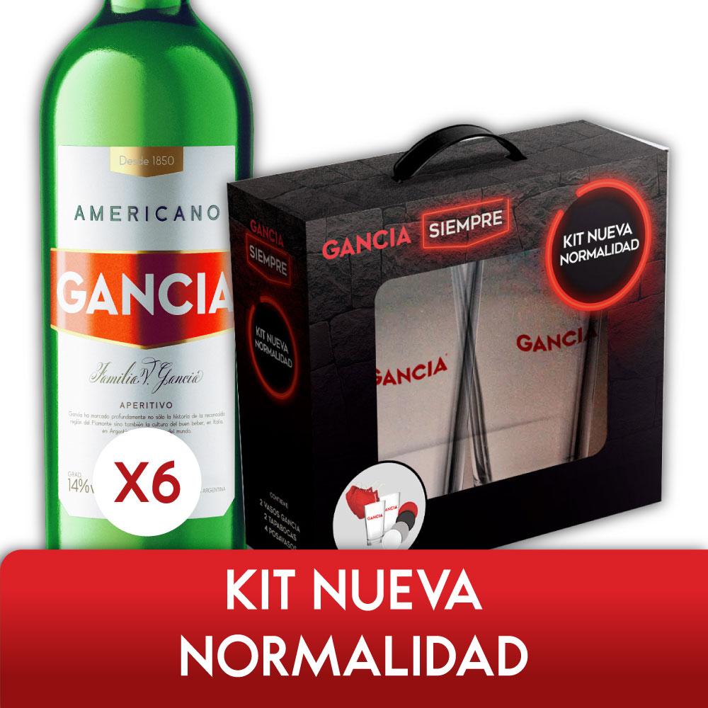AMERICANO GANCIA 950ml PACK x6 + KIT NUEVA NORMALIDAD