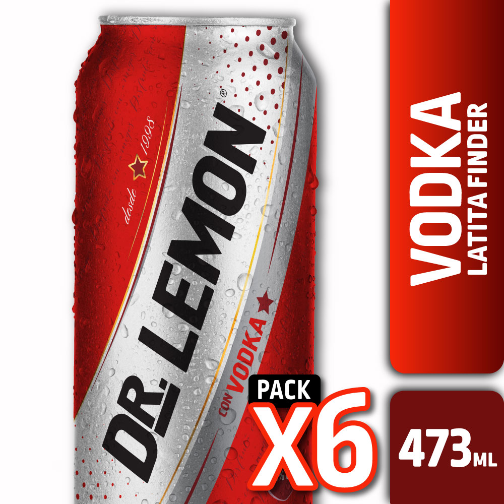 DR. LEMON CON VODKA LATA FINDER 473ml PACK x6